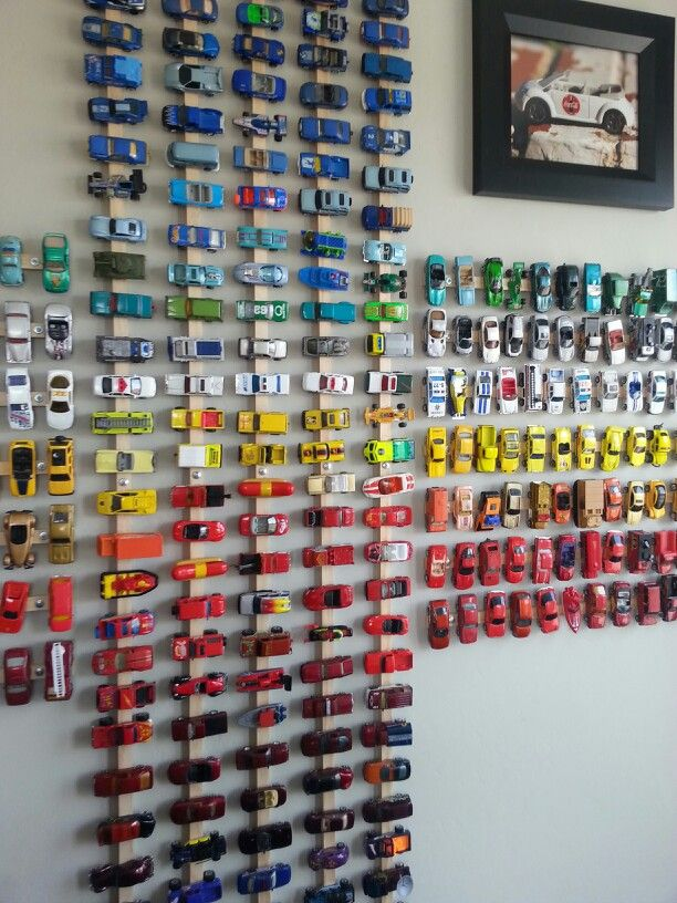 What Do You Use To Store Toys In : Of the coolest ways to store and display toy cars