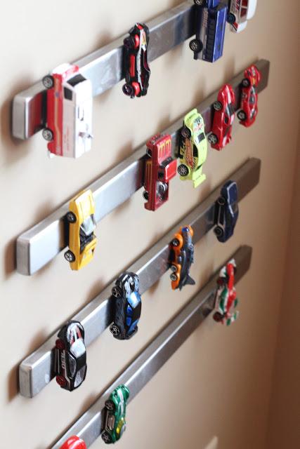 cars on magnet strip